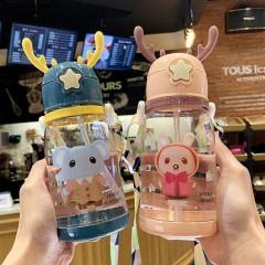 儿童水杯吸管水杯女夏季宝宝水壶幼儿园小学生夏天防摔便携水杯子