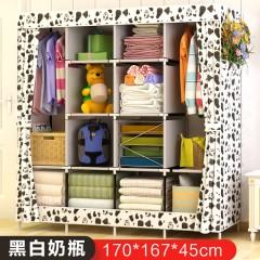 特大衣橱组装衣柜简易布艺加固布衣柜卧室收纳衣服收纳柜子储物柜