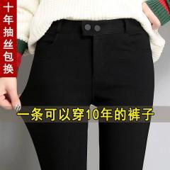 魔术黑色打底裤女裤外穿薄款2020春秋高腰弹力显瘦百搭小脚铅笔裤