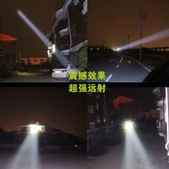 LED五头灯强光充电式感应夜钓鱼灯远射手电筒超亮头戴式多功能